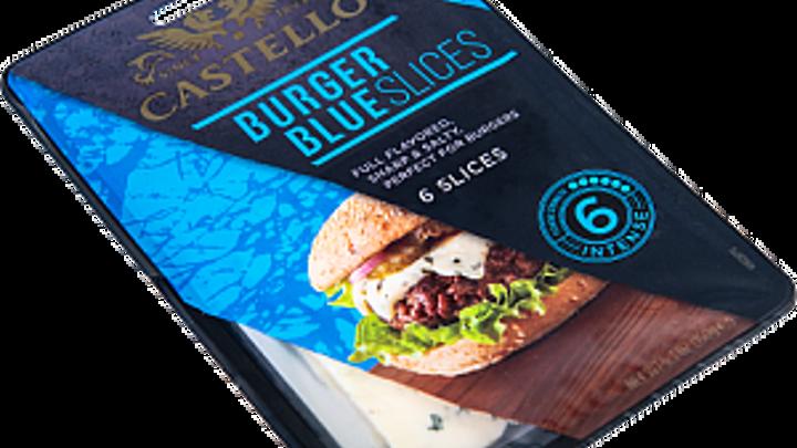 Castello® Burger blue skivad blåmögelost