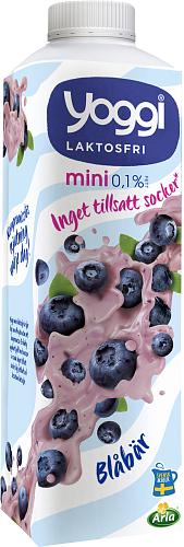 Yoggi® Mini laktosfri yoghurt blåbär