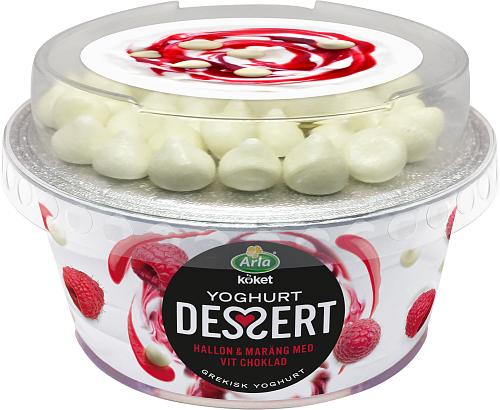 Arla Köket® yoghurtdessert hallon, vit choklad