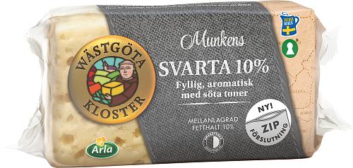 Wästgöta Kloster® Munkens Svarta 10% ost