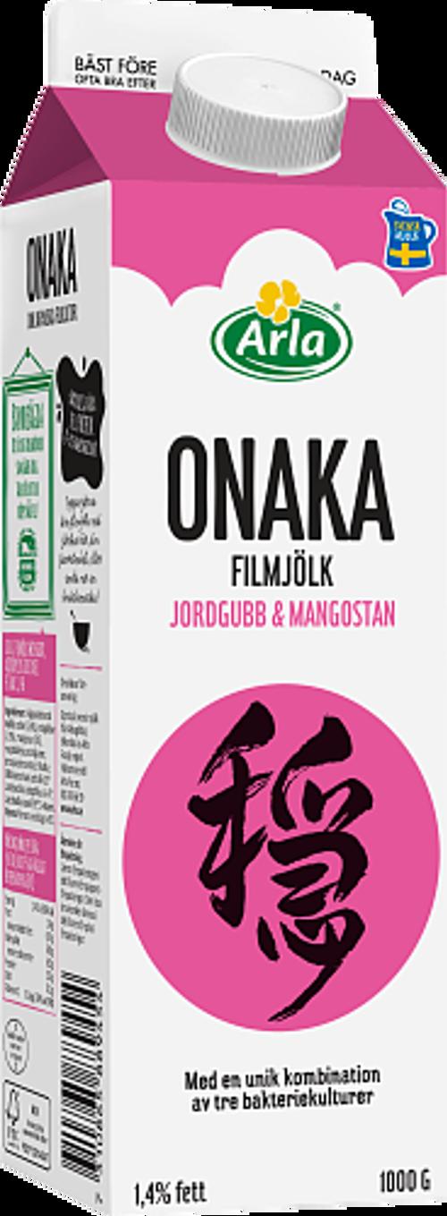 Arla® Onaka filmjölk jordgubb & mangostan