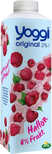 Yoggi® Original yoghurt hallon