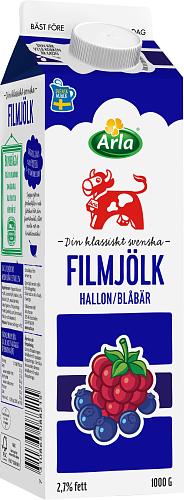 Arla Ko® Filmjölk blåbär & hallon 2,7%