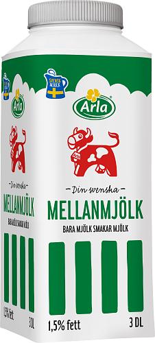 Arla Ko® Mellanmjölk 1,5% port
