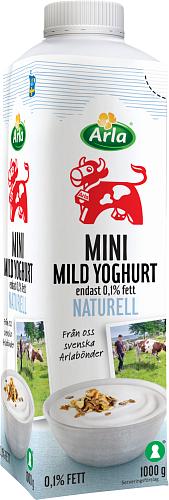 Arla Ko® Mild mini yoghurt naturell 0,1%
