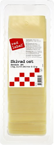 Red Label® Skivad ost 28%