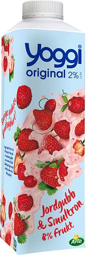 Yoggi® Original yoghurt jordg & smultron
