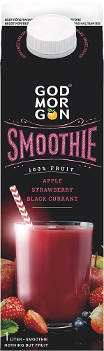 God Morgon® Smoothie Apple Strawberry (Black C)