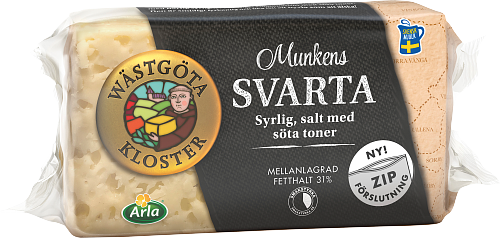 Wästgöta Kloster® Munkens Svarta ost