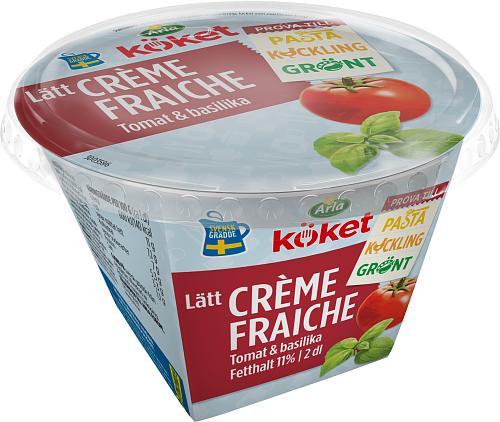 Arla Köket® Lätt crème fraiche tomat basil 11%