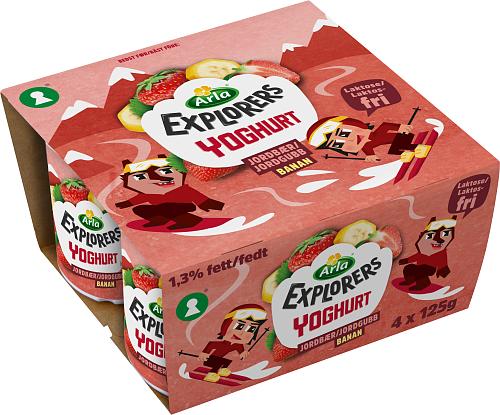 Arla® Explorers LF yoghurt jgb & ban