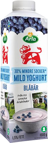 Arla Ko® Mild yoghurt blåbär lättsockr 1,5%