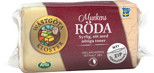 Wästgöta Kloster® Munkens Röda ost