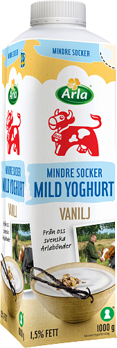 Arla Ko® Lättsockrad mild vaniljyoghurt 1,5%