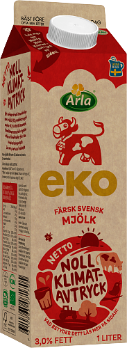 Arla Ko® Ekologisk Ekologisk färsk standardmjölk 3,0%