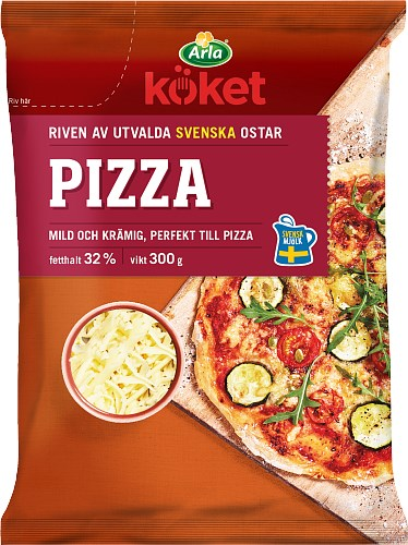 Arla Köket® Riven ost Pizza 32%