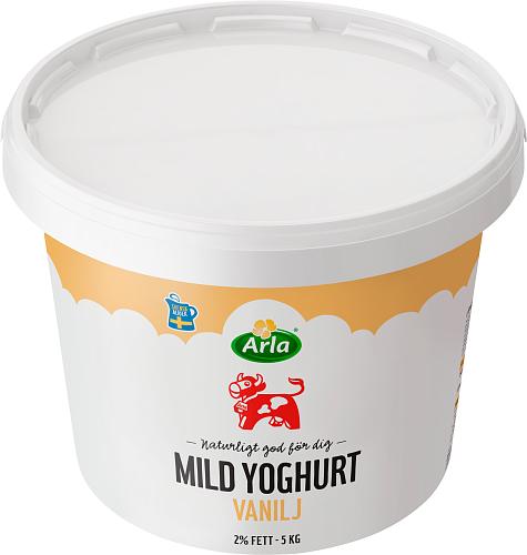 Arla Ko® Mild yogurt vanilj 2% hink