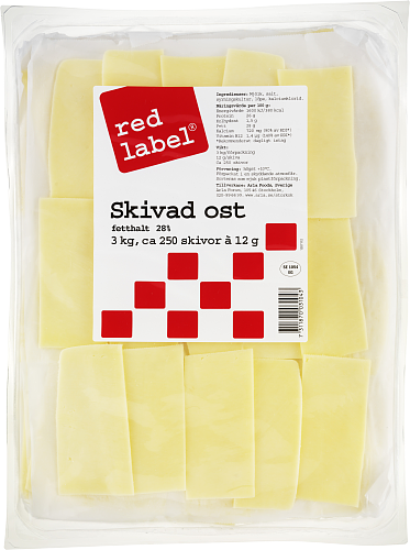 Red Label® Gouda skivad ost 12g/st 28%
