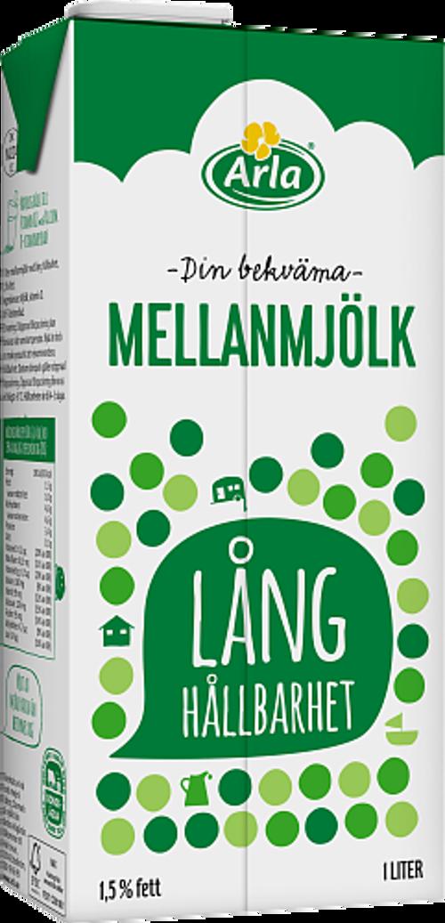 Arla® Mjölk med lång hållbarhet 1,5%